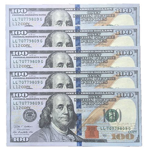 COPY MONEY $100X100 Pcs Imitation Dollar Fake Money Props Money full print Only Motion Picture Purposes magic dinero falso movie props
