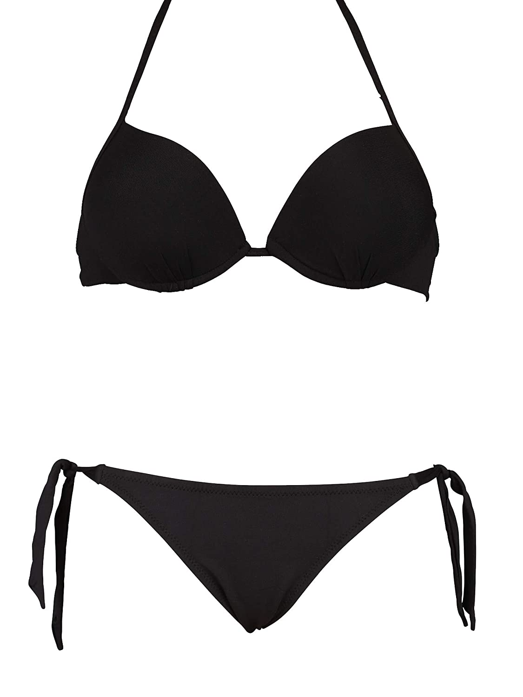 Bikinicolors Bikini Super Push Up con Slip o Brasiliana con Fiocchi Ribattuti Made in Italy
