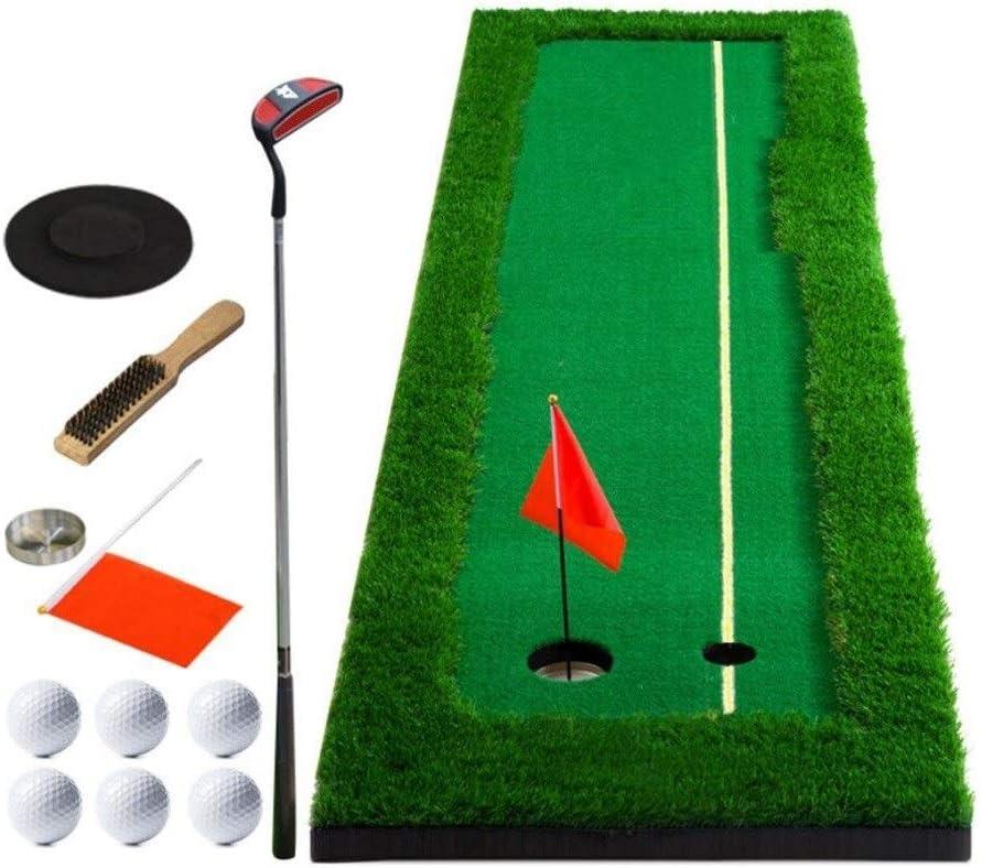 ホームゴルフパッティングエクササイズマット、パッティング練習トレーナーセット屋内野外練習毛布 (Color : A, Size : 0.5*3m) A 0.5*3m