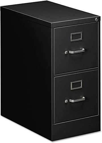 OIF Two Drawer Economy Vertical File Cabinet, 15-Inch Width by 26-1 2-Inch Depth by 29-Inch Height, Black