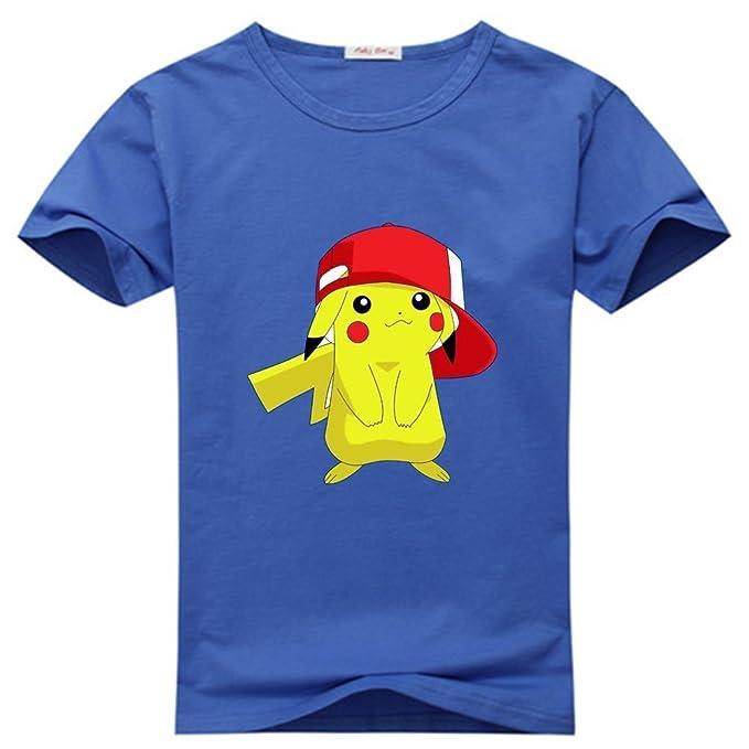 Diana Lynda Pokemon Pikachu Womens Camisetas – Pattern 1 azul marino