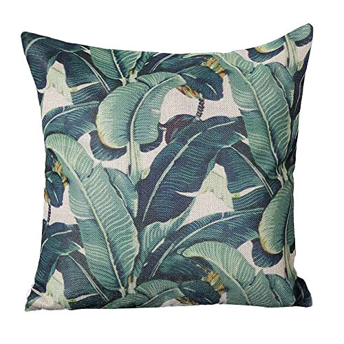 Easter Pillow case Cover 18x18,EOWEO Pastoral Style Square Pillow Cover Cushion Case Toss Pillowcase Hidden Closure from EOWEO