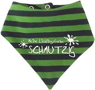KLEINER FRATZ Baby - Kinder Halstuch gestreift - Lieblingsfarbe Schmutzig/in 9 Designs/Größen 0-36 Monate