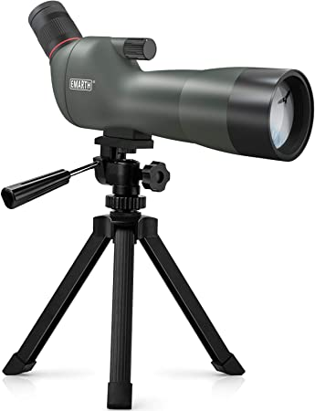 Emarth 20-60x60mm BAK4 Prism Spotting Scope with Camera Tripod