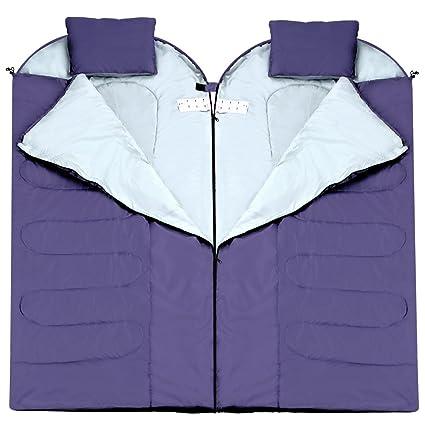 Enkeeo - Saco de dormir rectangular impermeable cáscara de tafetán (Especie de seda de forro
