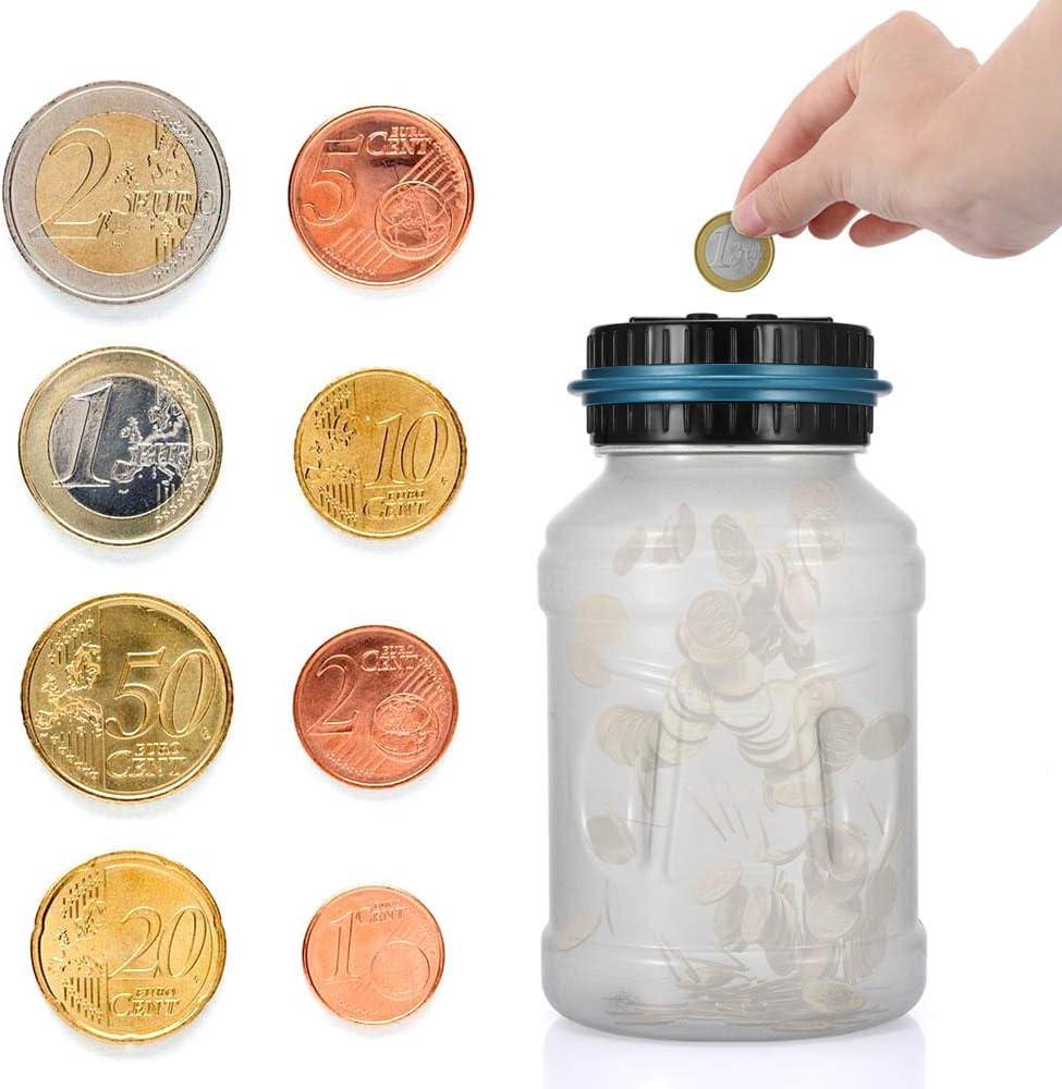 ShangSky Digitale Piggy Bank m/ünzen sparen Box 1.8l abs Geld sparb/üchse mit m/ünzz/ählung jar wtih Leuchtend LCD Display for Kinder Geschenk
