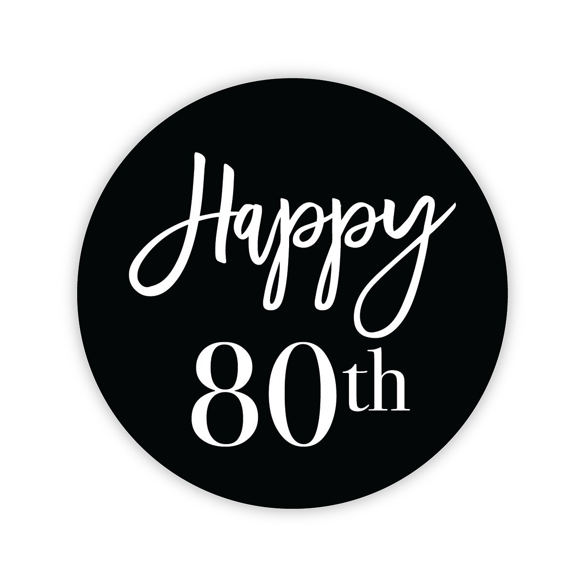 #631-30a 24-2 30th Birthday Milestone Birthday Party Favor Stickers Orange Umbrella Co