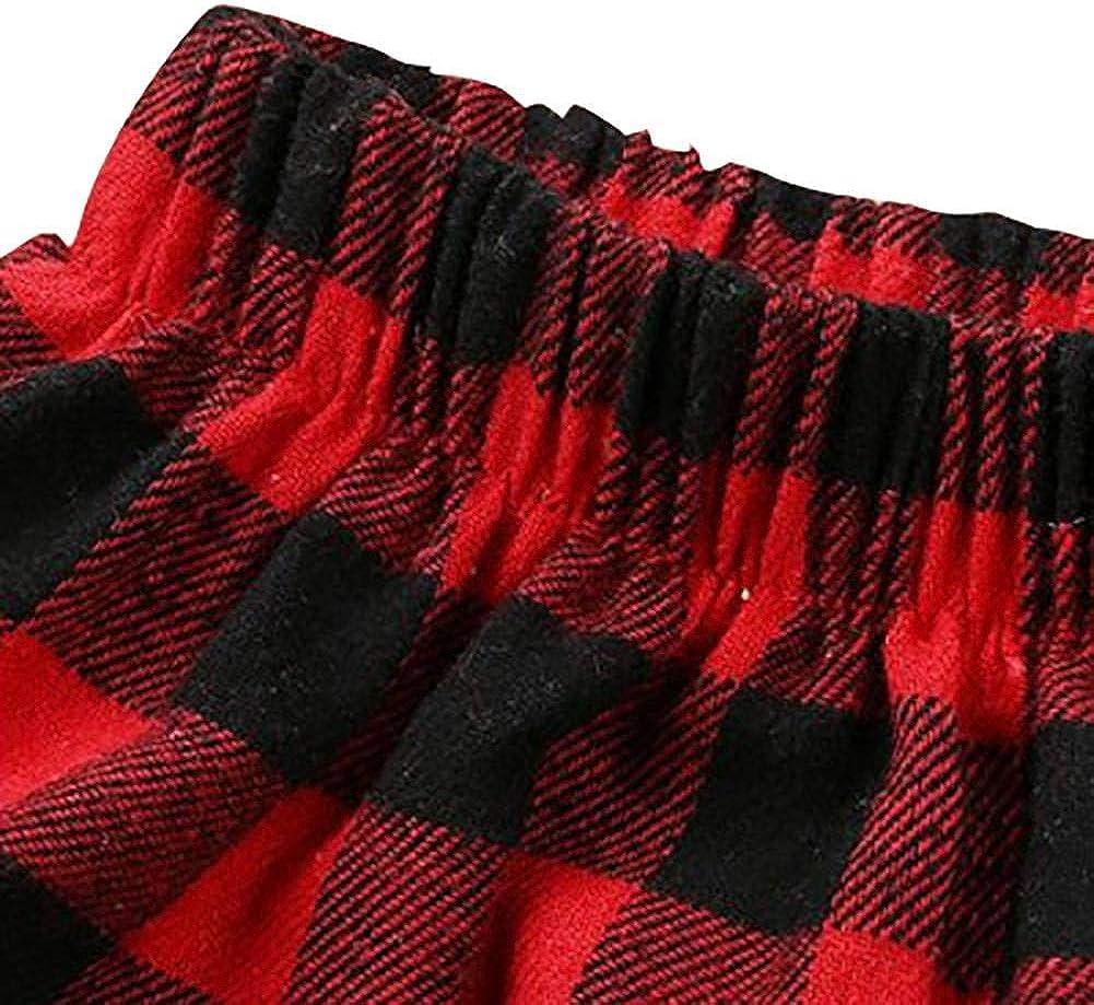 ELINKMALL Baby Girl Red Black Lattice Plaid Cotton Skirt Suit Set Newborn Infant Skirt+Headband