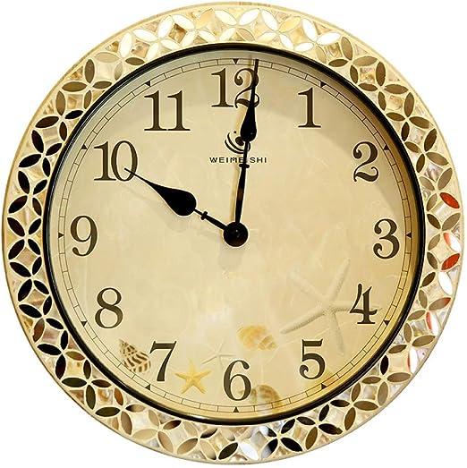 LZLXX Hora Radio Control Exterior y jardín Interior Reloj, Oficina y Sala Reloj de Pared: Amazon.es: Hogar