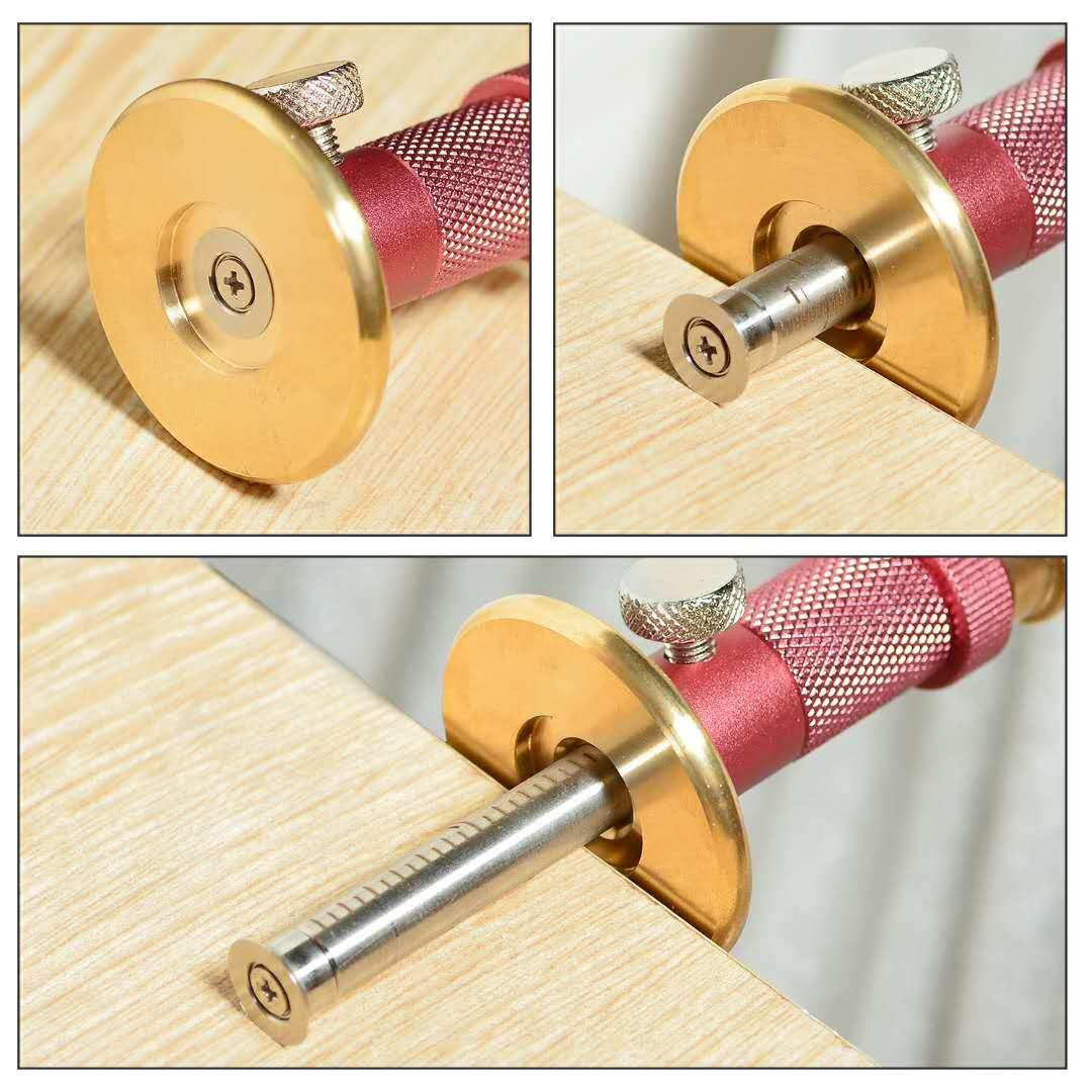 Newkiton 1 cortador de rodamientos para madera suave Medidor de marcado de ruedas Pro con funci/ón de ajuste micro 1 cortador de rueda bloqueado para madera dura negro 1 destornillador incluido
