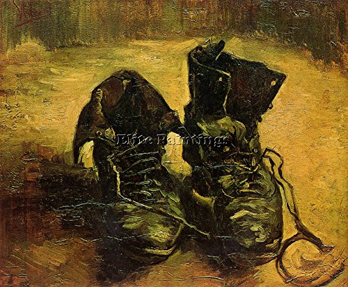 VAN GOGH VINCENT A PAIR OF SHOES ARTIST PAINTING OIL CANVAS REPRO WALL ART DECO 20x24inch MUSEUM QUALITY (Van Vincent Gogh Shoes Pair)