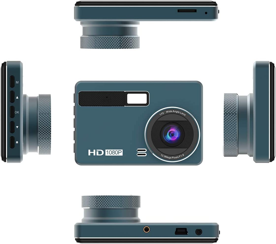 Motion Detection Dash Cam XQCK 1080P FHD Car Camera Loop Recording Wide Angle 170/° G-Sensor Parking Monitor,K01HR
