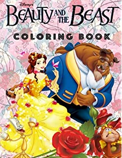 Beauty And The Beast Coloring Book Awesome Book For Kids Rainbow