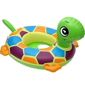 Clerfy Acc Anillo de Natación para Bebé, Barco Flotador de Bebé La Pequeña Tortuga Inflable de La Piscina Juguetes para Niños de Color Llamativo: Amazon.es: ...