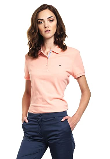 Tommy Hilfiger - Polo - Blusa - para Mujer Rose XL: Amazon.es ...