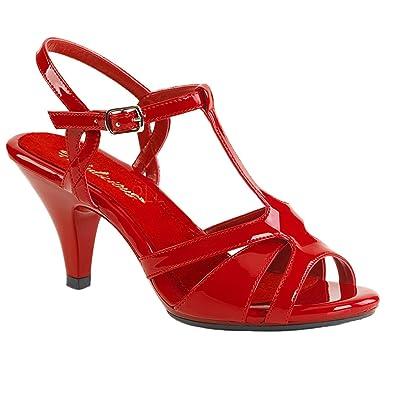 Fabulicious Damen Sandalen Sandaletten Belle-322 Lack rot