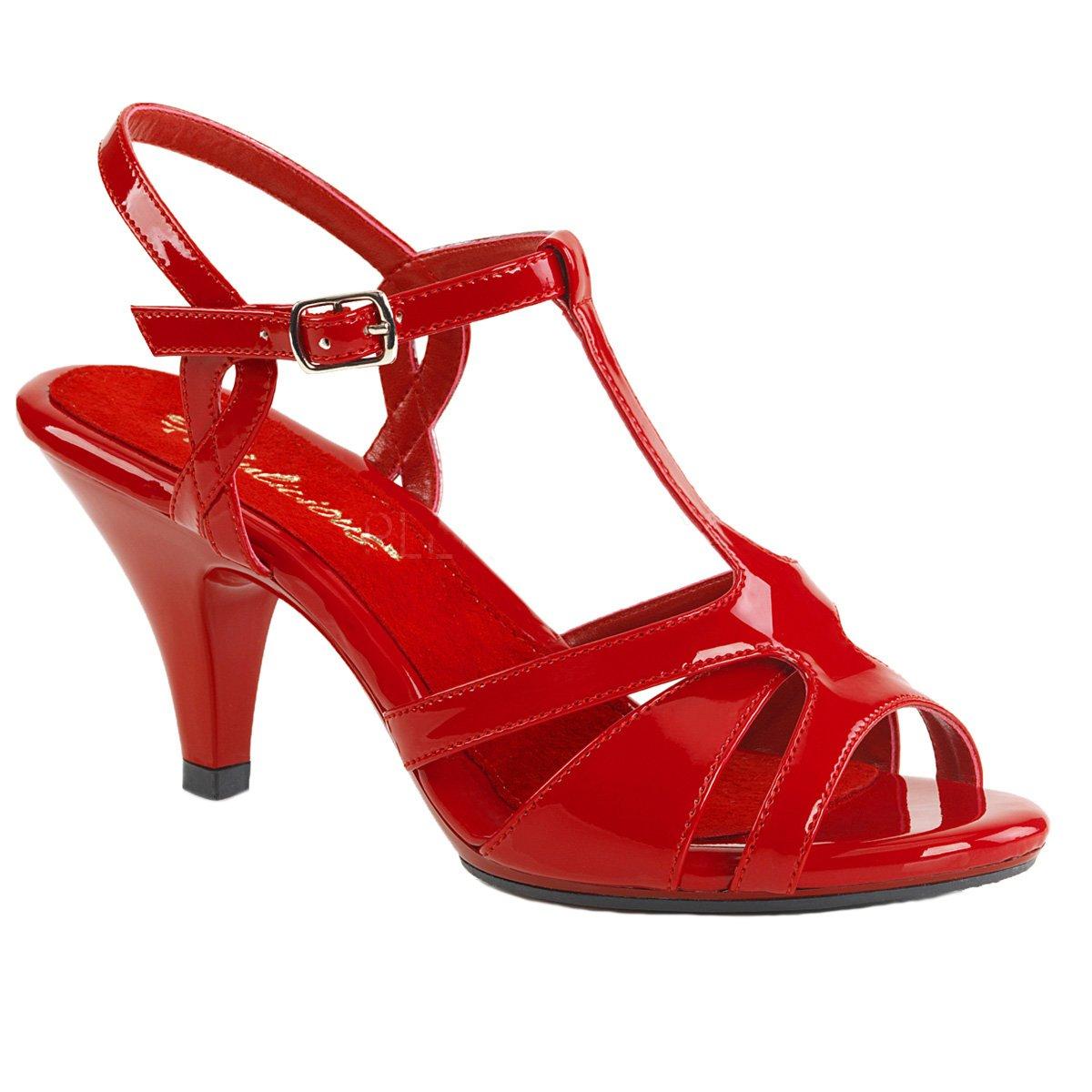 Fabulicious Damen Sandalen Lack Sandaletten Belle-322 Lack rot Lack Sandalen Rot 9179f3