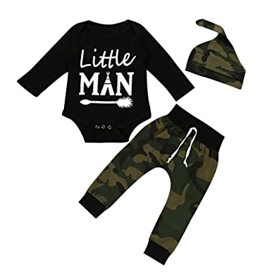 fa2fe5307 Amazon.com  Baby Boys Pants Set Newborn Infant Toddler Clothes on ...