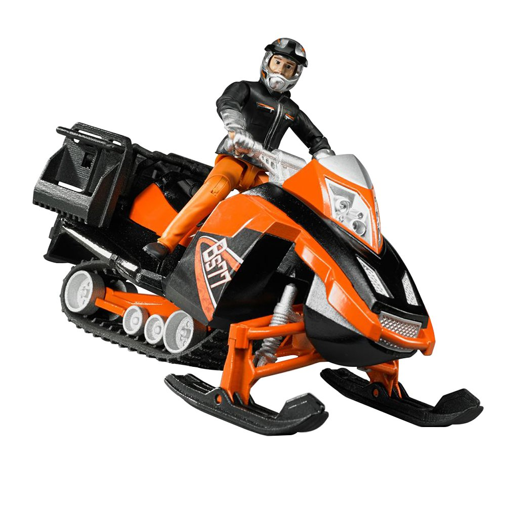 Bruder Snowmobile with Driver /& Accessories Bruder Toys 63101