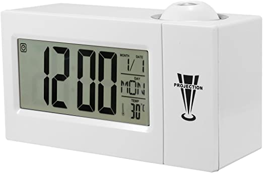 EsportsMJJ Snooze Reloj Despertador Contraluz Pared Proyector ...