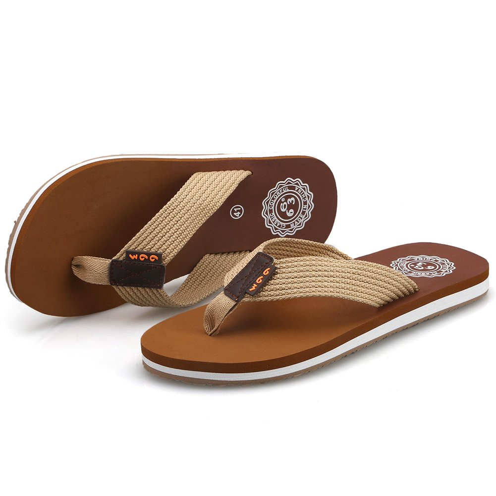 591306aab CIOR Men s Classical Flip-Flop Beach Slipper Thong Sandals Comfortable  Handmade Fashion Indoor and Outdoor   Sandals   Clothing