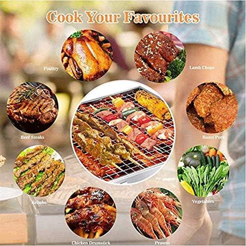 CMM Démontez Barbecue Grill, Charbon Pliant en Acier Inoxydable, Facile à Assembler Multifonctionnel, utilisé pour l'extérieur Jardin Terrasse Pique-Nique Camping Voyage