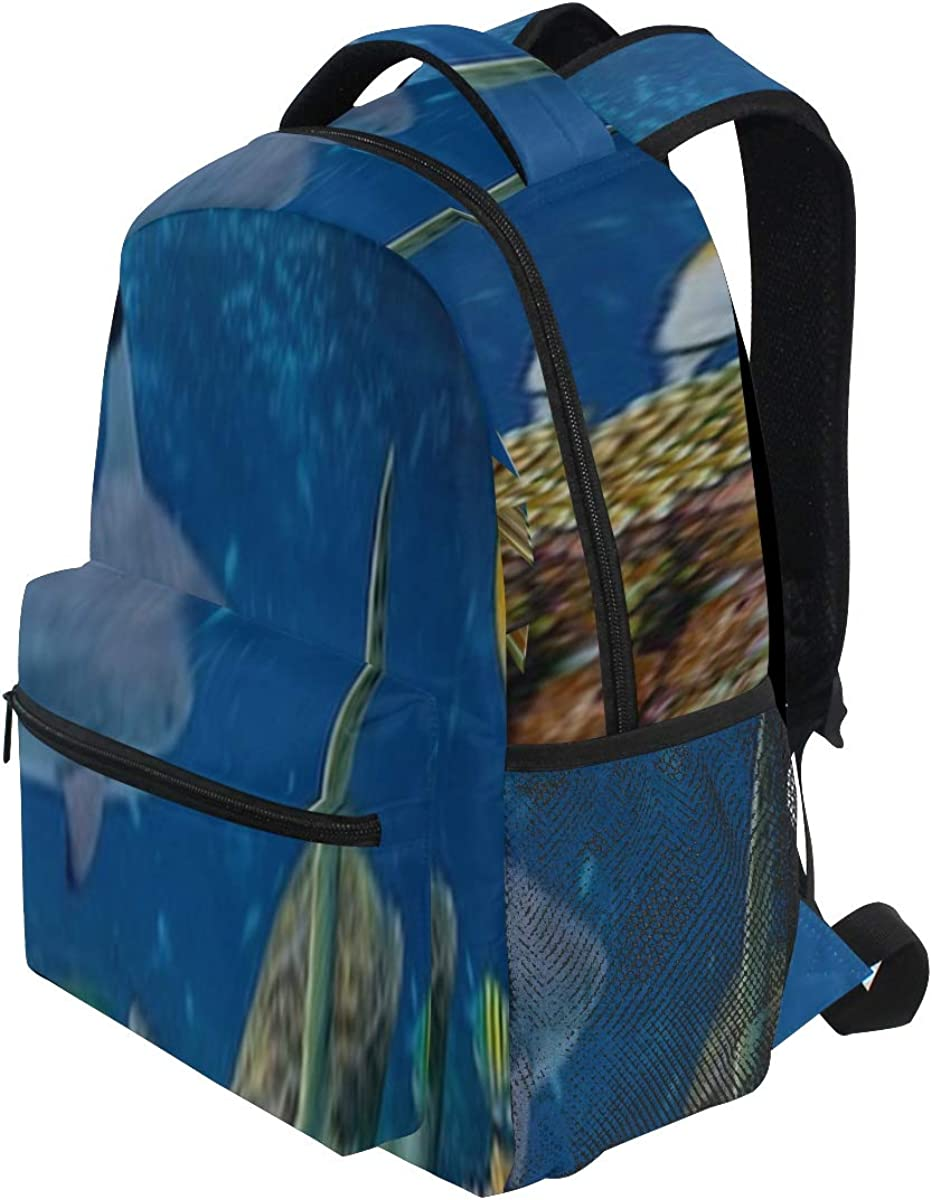 Backpack Bag Underwater Coral Reef Landscape 16to9 Background Backpack For Women Waterproof Casual Daypacks For Young Girls