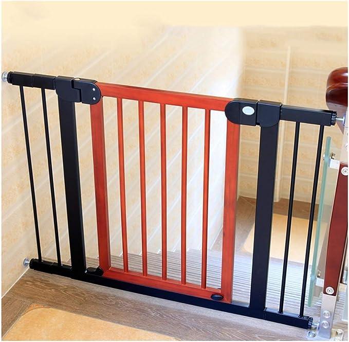 WHAIYAO Bebé Puerta De La Escalera Barrera Mascota Bebé Barandilla Puerta De Aislamiento Montado En La Pared Decorativo for El Hogar Pasillo Escalera, 2 Colores (Color : Red, Size : 125-132cm): Amazon.es: Hogar