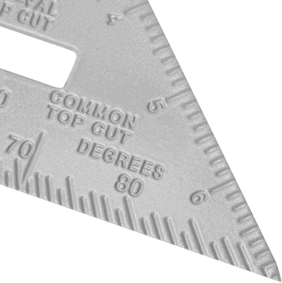 7 Aluminum Alloy Triangle Rulers 90 Degrees 45 Degrees Set Square Ruler Woodworking Measuring Tool