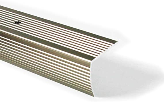M D Building Products 43878 M D Fluted Stair Edging 36 In L W X 1 1 8 In H Aluminum Pewter Pack Of 1 Staircase Hardware Amazon Com