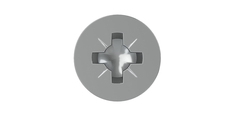 3/x 10/mm 0//1130//001//4,0//13////03 argent Dresselhaus JD-79/Lot de 1000 vis /à t/ête frais/ée en Z pour panneau dagglom/ér/é galvanis/ées