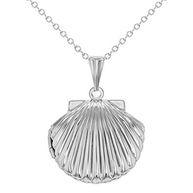 Seashell Necklace - Sterling Silver - Tiny/Discreet (45cm) CCKU9g3