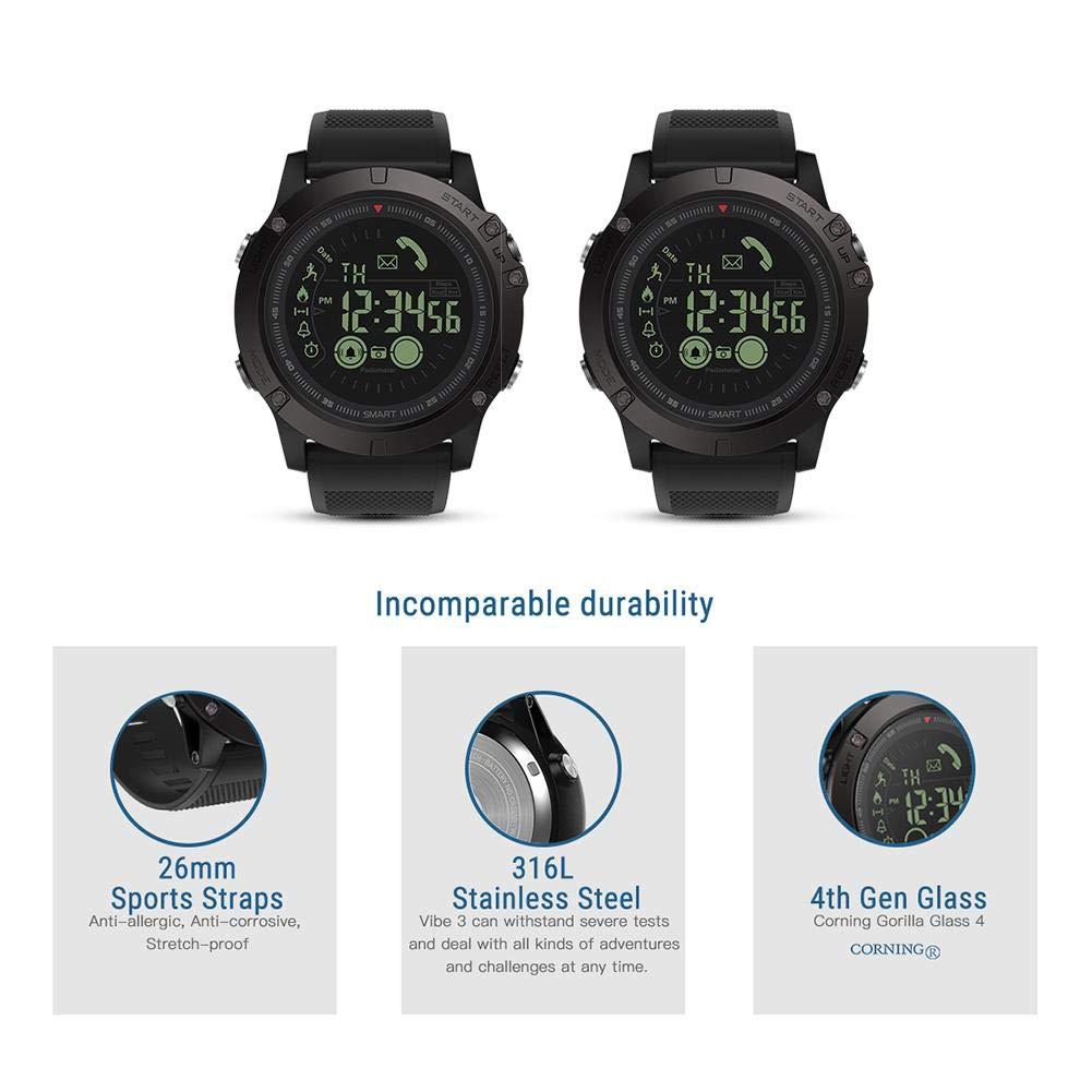YouN Zeblaze VIBE3 Bluetooth Smart Bracelet Podómetro para iOS y Android reloj inteligente(Negro: Amazon.es: Bricolaje y herramientas