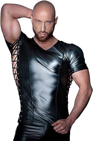 Noir Handmade Sexy Lencería para hombre camisetas camiseta para hombre con cordones en los laterales, tamaño mediano: Amazon.es: Salud y cuidado personal