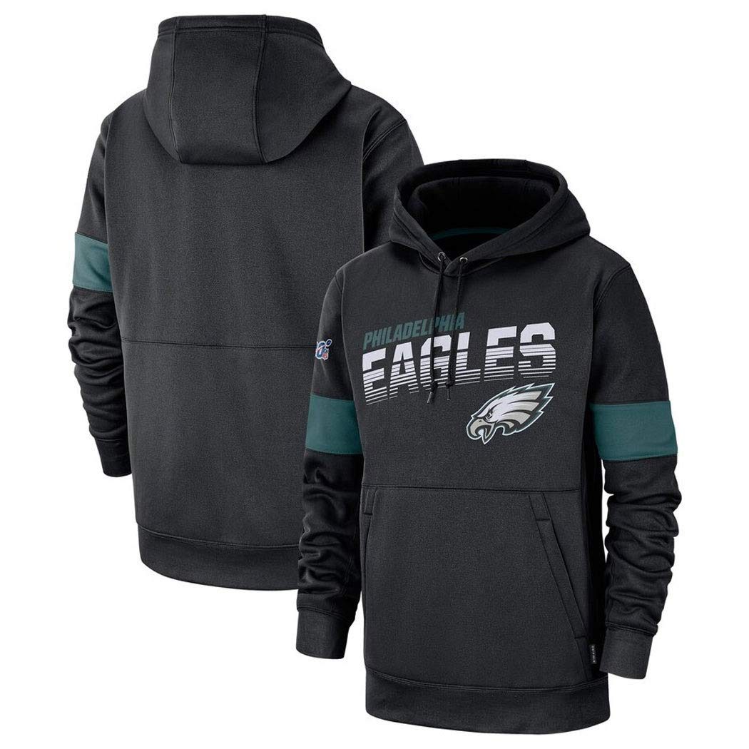 Color : Black, Size : S M/änner Casual Sweatshirt for Philadelphia Eagles American Football Hoodie Fans Trikots Sport Und Freizeit Schwarz
