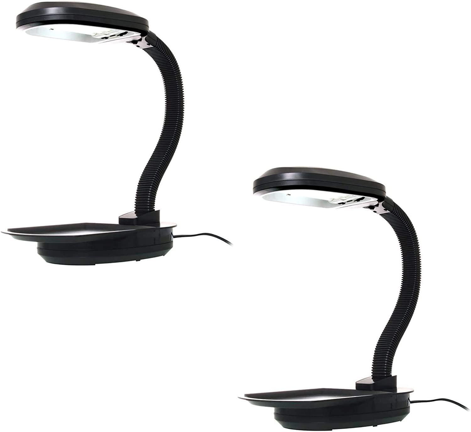 Hydrofarm Agrobrite 27 Watt Indoor Adjustable Desktop Grow Plant Light (2-Pack)