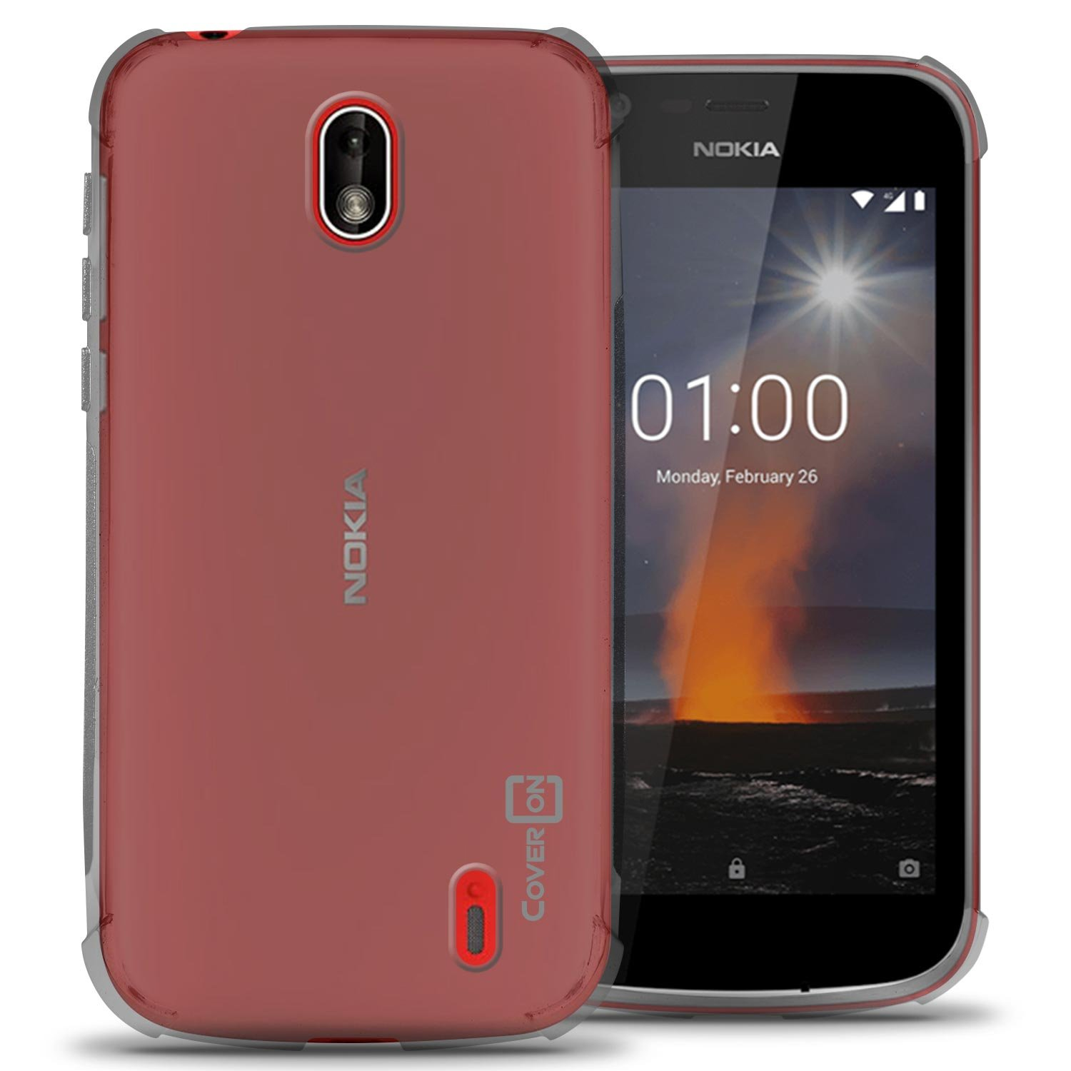 official photos 5d1b9 3a500 Nokia 1 Case, CoverON FlexGuard Series Slim Fit TPU Phone Cover with  Anti-Slip Grips and Corner Shock Padding for Nokia 1 (2018) - Clear