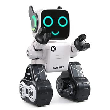 JJRC RC Robot For Kids, R4 RC Robot (Interactive Robot + Large Capacity  Coin Bank + Volce Recording and Alerting + Programming and Obstacle  Avoidance