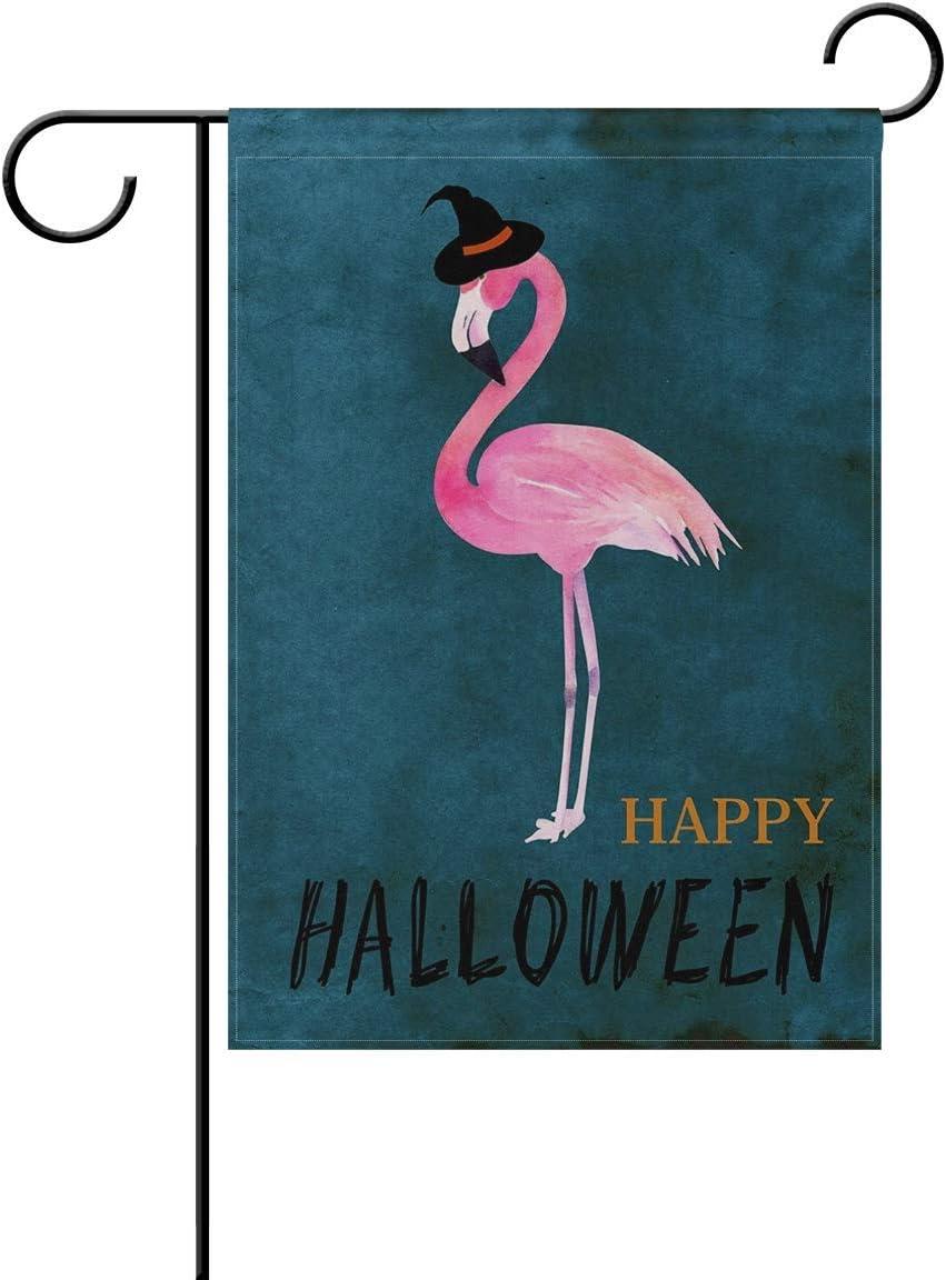 HOOSUNFlagrbfa Unisex Halloween Flamingo Home Garden Flag Vertical Double Sided Yard Outdoor Decorative