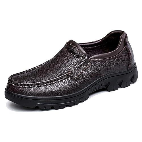 TRULAND Mocasines en Cuero Genunino para Hombres Tallas Grandes: Amazon.es: Zapatos y complementos
