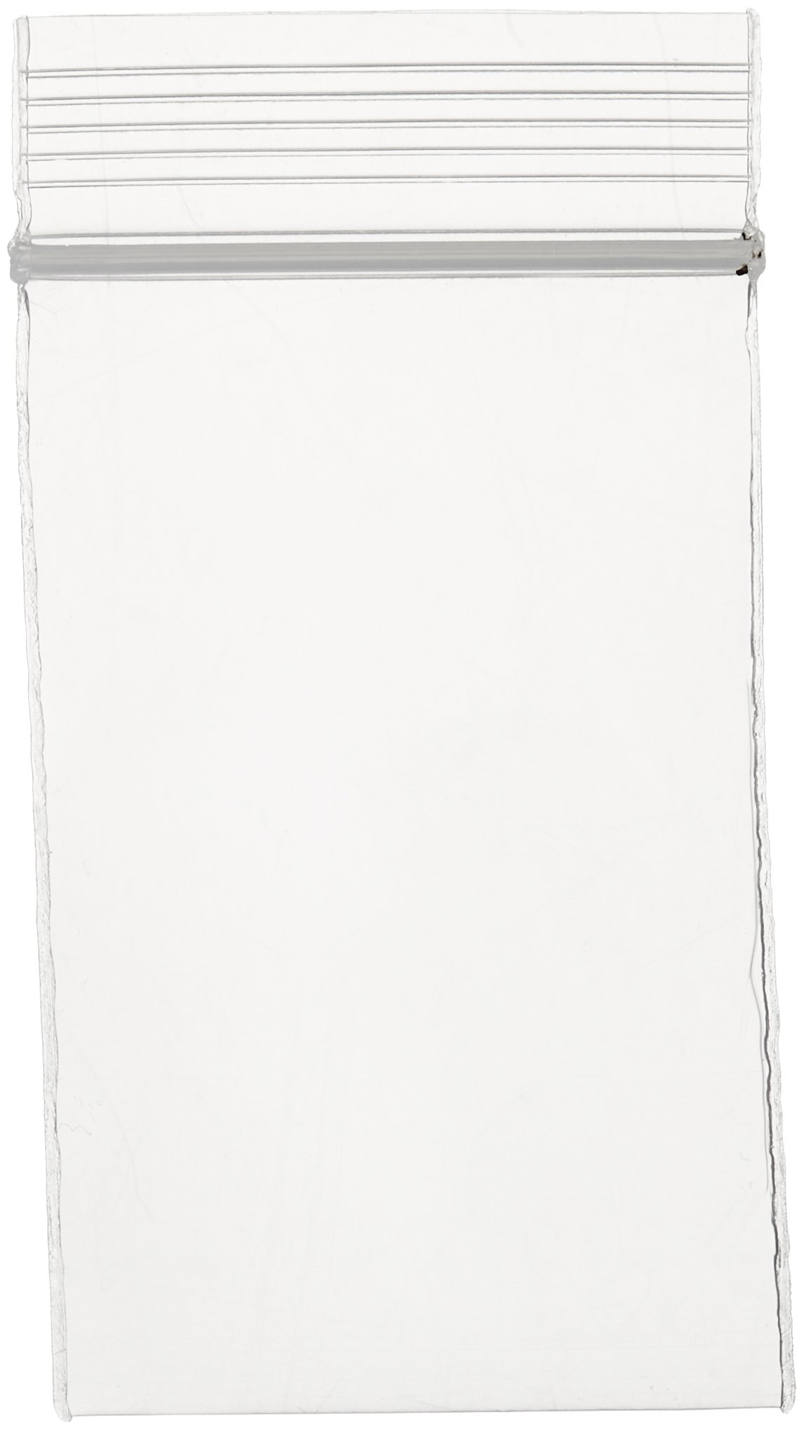 Clear 4 Mil 2'' x 3'' Resealable Poly Bags - 1000-Pack