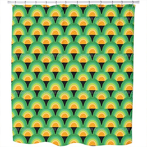 Uneekee Bingo Bongo Shower Curtain: Large Waterproof Luxurious Bathroom Design Woven Fabric by uneekee