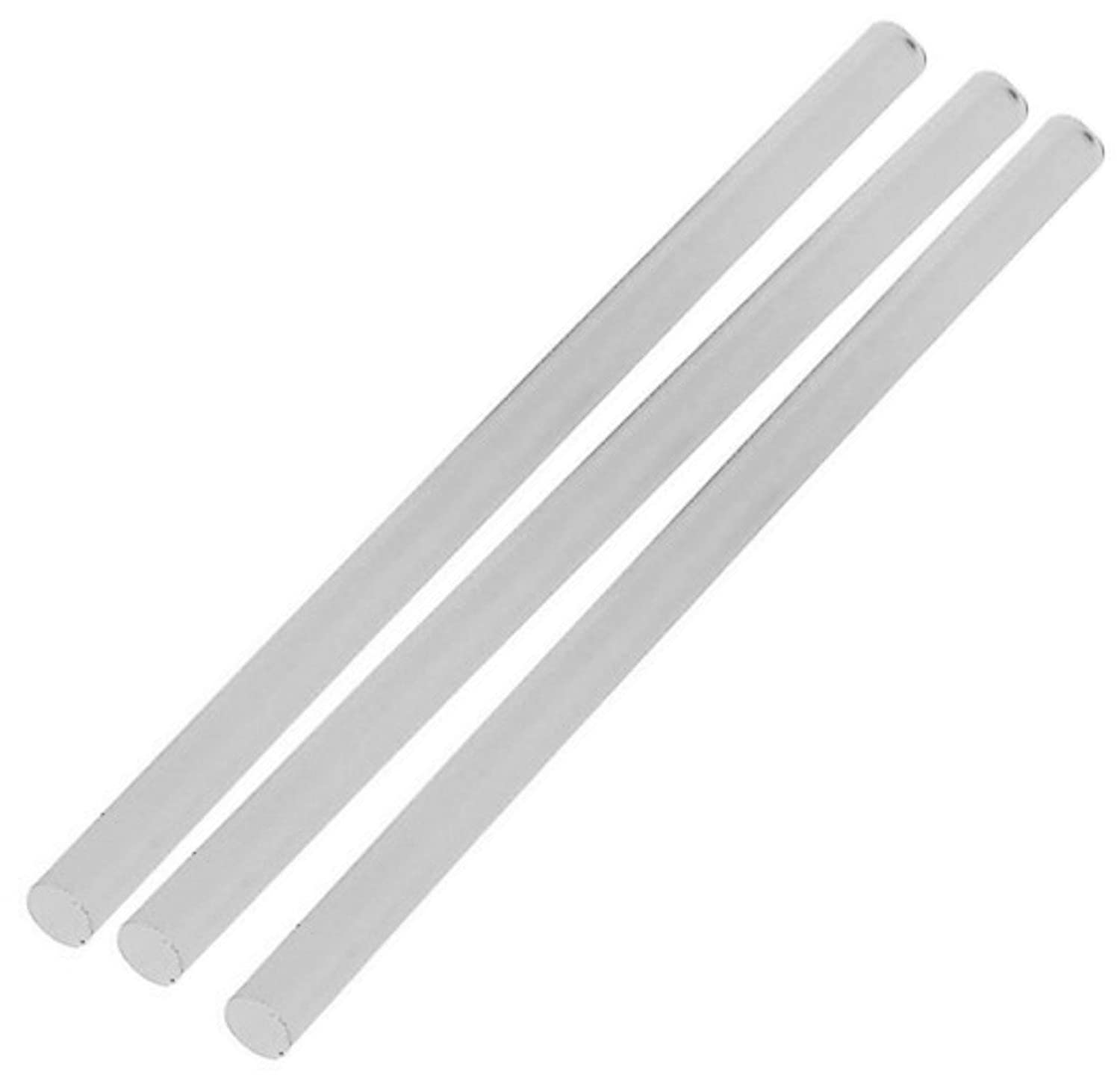 3 lengths of 6mm x 250mm White Plastic/Acetal Rod Round Bar A-Stops