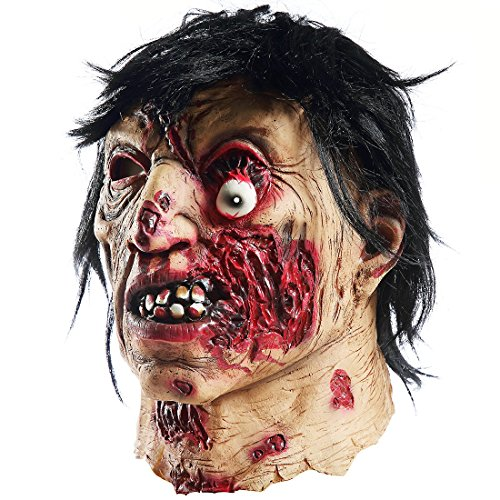 Halloween Natural Vampire Zombie Mask Rot Scary Face Mask Props (Half Face) -