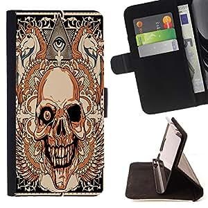 """Dragon Case - FOR Samsung Galaxy S3 MINI 8190 - """"why you're hurt - Caja de la carpeta del caso en folio de cuero del tir¨®n de la cubierta protectora Shell"""