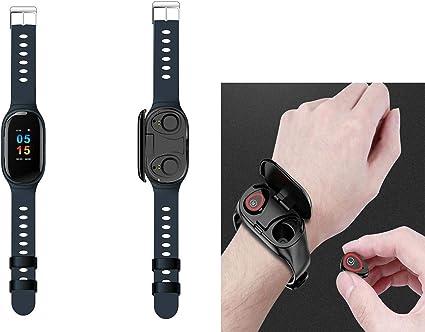 Amazon.com: Reloj inteligente 2 en 1 + auriculares Bluetooth ...