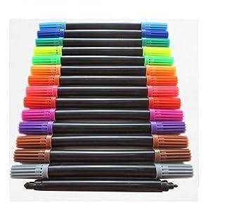 Generic. Pack Doub penne confezione da 15pennarelli con punta Co en doppio le estremità Co Dual con punta colorata colore colorante punte colore NV_1001006668-CNUK22-S3