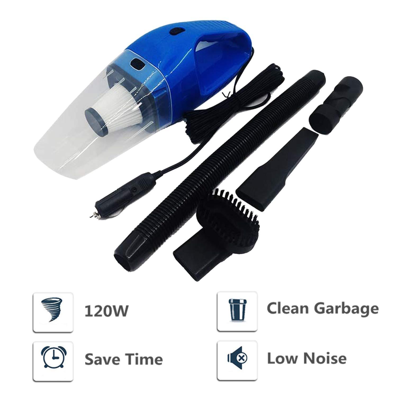 TFENG - Aspirador para coche (apto para vehículos secos y húmedos, doble uso, 4,5 m de línea, 100 W/120 W) 120w azul: Amazon.es: Hogar