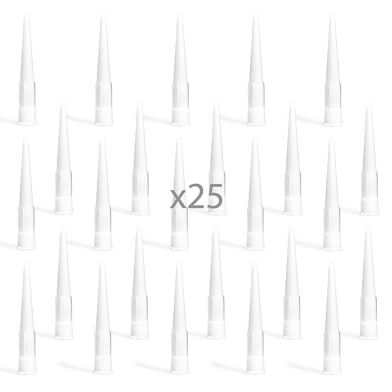 ajuste est/ándar Boquilla de silicona para calafatear paquete de 25 Henkals