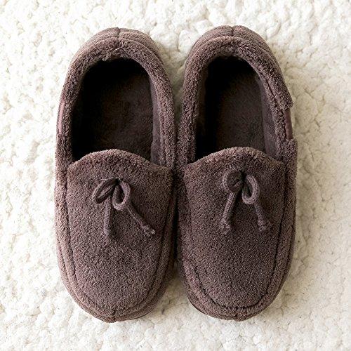 au marron Accueil Chaussons LaxBa 35 adapt en chaleureux hiver Bottines chaussures Chaussons l'hiver 36 antiglisse moelleux L'hiver code chaud HWx5w
